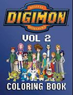Digimon Coloring Book - 80 Pages A4 (Volume 2)