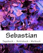 Sebastian - Tagebuch - Notizbuch - Malbuch