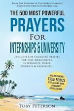 Prayer the 500 Most Powerful Prayers for Internships & University