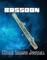 Bassoon Music Lesson Journal