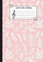 Music Lyric Journal for Kids