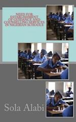 Need for Establishment of Guidance and Counselling Services in Nigerian Schools