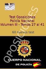 Test Oposiciones Policia Nacional III