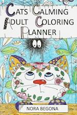 Cats Calming Adult Coloring Planner