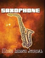 Saxophone Music Lesson Journal