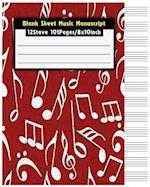 Blank Sheet Music Manuscript