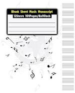 Blank Sheet Music Manuscrip