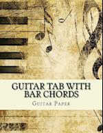 Guitar Tab with Bar Chords