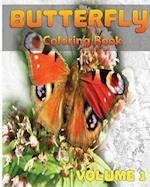 Butterfly Coloring Books Vol. 1 for Relaxation Meditation Blessing