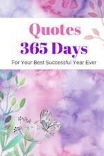 Quotes 365 Days for Your Best Successful Year Ever