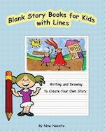 Blank Story Books for Kids with Lines