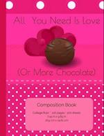 All You Need Is Love (or Chocolate) Composition Book