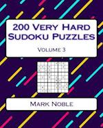 200 Very Hard Sudoku Puzzles Volume 3