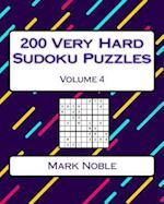 200 Very Hard Sudoku Puzzles Volume 4