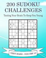200 Sudoku Challenges - Very Hard - Volume 10