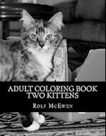 Adult Coloring Book - Two Kittens