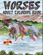 Horses Adult Coloring Book
