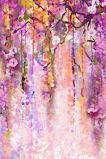 Abstract Watercolor of Purple Spring Flowers Art Journal