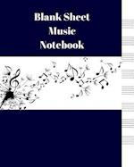 Blank Sheet Music Notebook