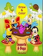 Draw & Color Insects & Bugs Coloring Book