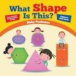 What Shape Is This? - Trace and Color Geometry Books for Kids | Children's Math Books