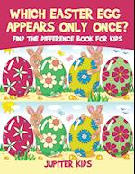 Which Easter Egg Appears Only Once? Find the Difference Book for Kids