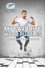 My Favorite Word Puzzles | Crossword Easy Puzzles | Brain Games for Adults