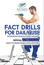 Fact Drills for Daily Use | Crossword Search Puzzle Books | Easy to Hard Puzzle Collection