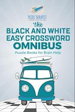 The Black and White Easy Crossword Omnibus | Puzzle Books for Brain Help