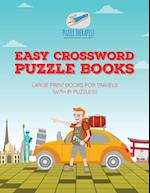 Easy Crossword Puzzle Books | Large Print Books for Travels (with 81 puzzles!)