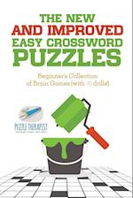 The New and Improved Easy Crossword Puzzles | Beginner's Collection of Brain Games (with 70 drills!)