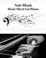 Blank Note Music Sheet for Piano V.3