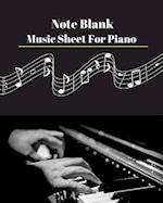 Note Blank Music Sheet for Piano V.2