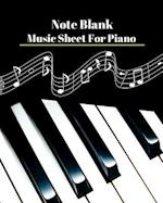 Note Blank Music Sheet for Pinno V.4