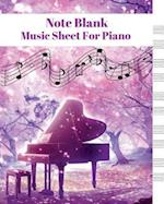 Note Black Music Sheet for Piano