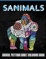 Sanimals Adult Animal Pattern Coloring Book