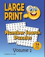 Number Search Puzzle Book for Adults in Large Print