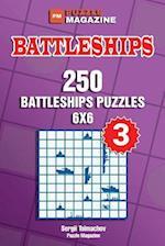 Battleships - 250 Battleships Puzzles 6x6 (Volume 3)