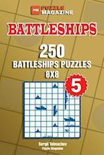 Battleships - 250 Battleships Puzzles 8x8 (Volume 5)