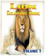 Lion Coloring Books Vol.1 for Relaxation Meditation Blessing