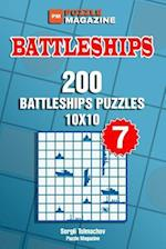 Battleships - 200 Battleships Puzzles 10x10 (Volume 7)