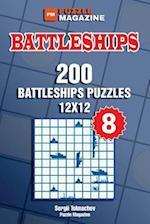 Battleships - 200 Battleships Puzzles 12x12 (Volume 8)