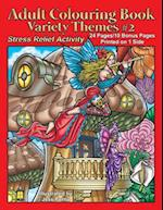 Adult Colouring Book Variety Themes #2