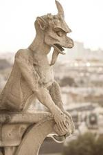 Cool Gargoyle on Notre Dame Cathedral in Paris France Journal