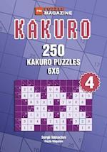 Kakuro - 250 Kakuro Puzzles 6x6 (Volume 4)