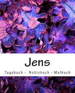 Jens - Tagebuch - Notizbuch - Malbuch