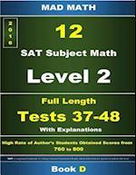 Book D L-2 Tests 37-48