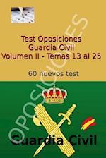 Test Oposiciones Guardia Civil II