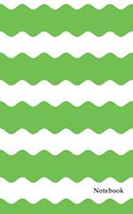 Blank Notebook Green Chevron Zig Zag Cover Diary Journal 160 Lined Pages 5x8