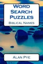 Word Search Puzzles Biblical Names